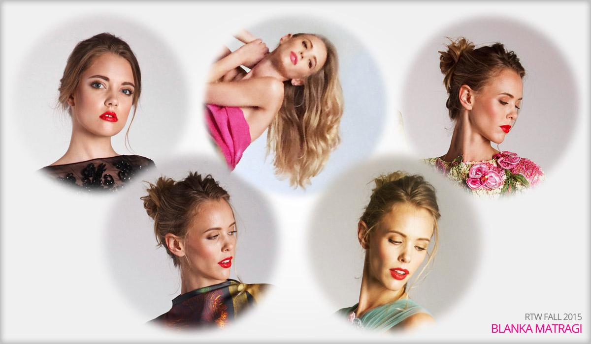 O účesy modelek k nové kolekci Blanky Matragi se postaraly stylistky ze salonu Petra Měchurová. Úkolu se zhostily Viera Banášová a Jana Vrátná.
