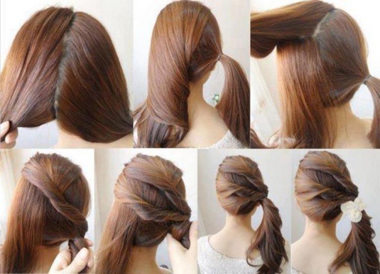 Jednoduché účesy pro dlouhé vlasy na léto – Zkuste kreativní copánek na  stranu! e426db91bf