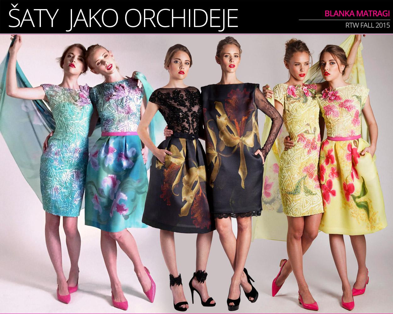 V lookbooku kolekce Blanky Matragi (RTW S/S 2015 – kolekce Orchidej) se objevila vítězka soutěže Czechoslovak TopModel 2013 Kateřina Kozlová. Druhou modelkou je Čechoameričanka Molly Kucera.