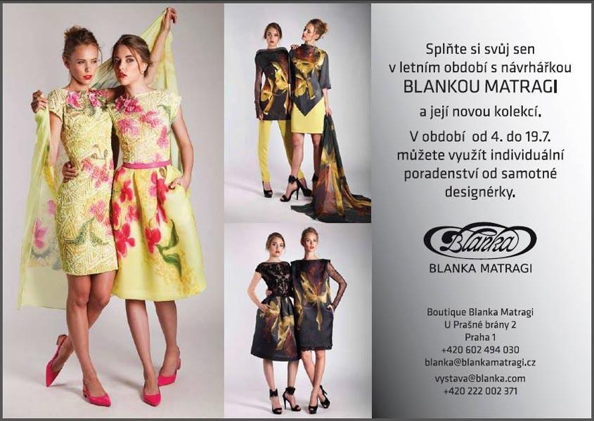 Kolekci Blanka Matragi – Orchidej koupíte přímo v pražském butiku nebo v e-shopu návrhářky.