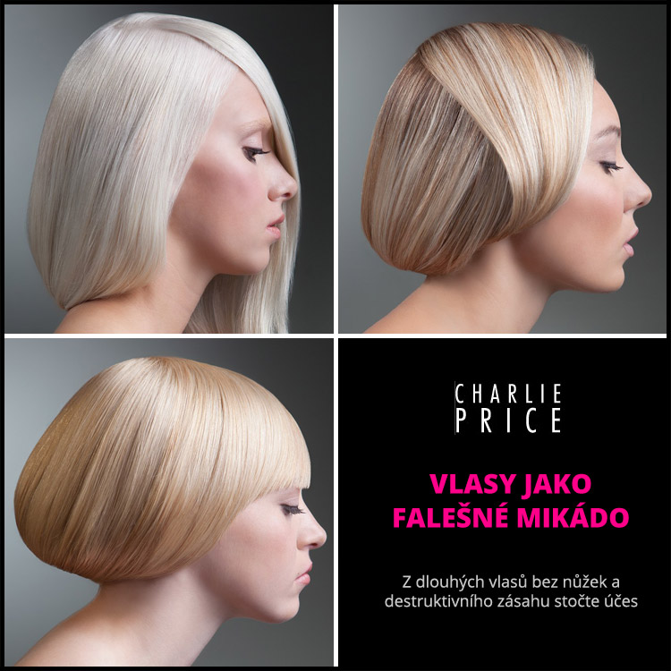 Vlasy jako falešné mikádo – zkuste to! (Účesy: Charlie Price, kolekce: Updo Collection, barvení: Karie Renshaw Nielsen a Amie Breckenridge Goltz)