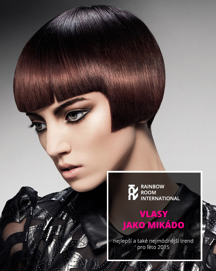 Vlasy jako mikádo jsou hitem léta 2015. (Účes: Rainbow Room, kolekce: Birds of Paradise Collection, vlasy: Dylan Brittain & Suzie McGill z Rainbow Room International, foto: Jack Eames, make-up: Maddie Austin, použité produkty: Schwarzkopf Professional.)