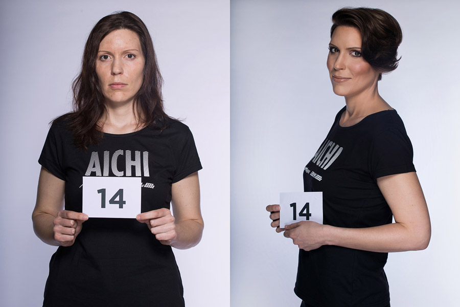 Proměny AICHI 2015 (13. ročník) – Jan Rigó, Kadeřnické studio Mírové Náměstí 2, Karlovy Vary (proměna 14)