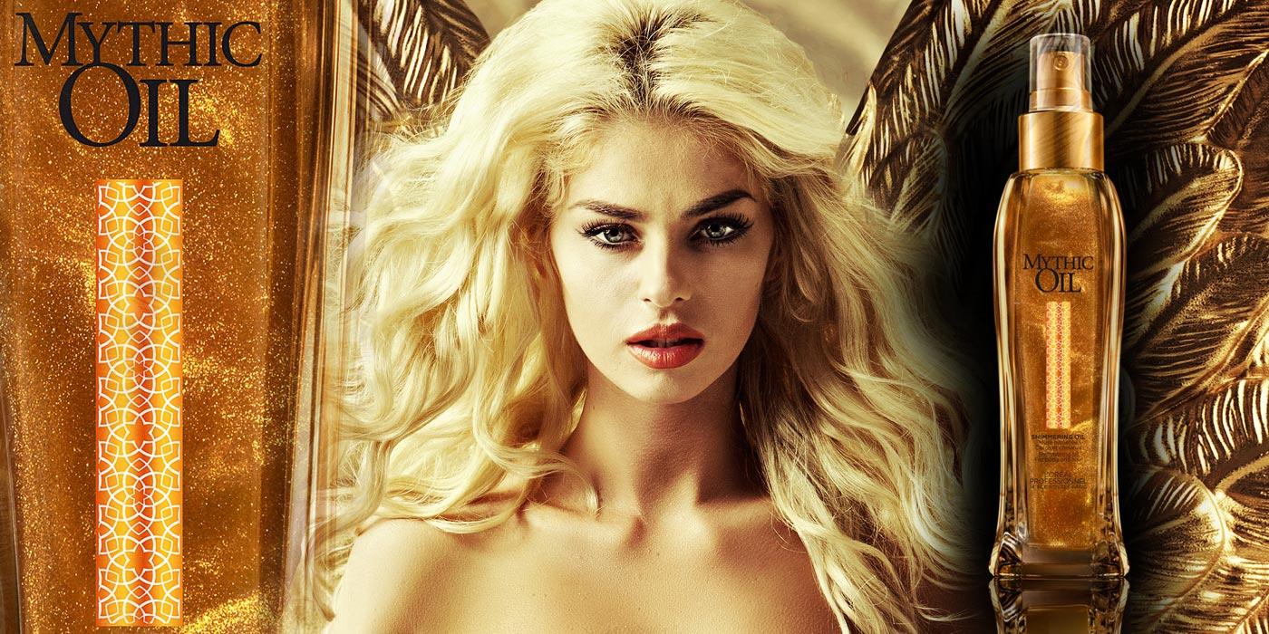 Zajímavá kosmetika Mythic Oil má nový atraktivní přírůstek. Je jím Shimmering Oil – vlasový a tělový olej, který vlasy prozáří zlatými odlesky.