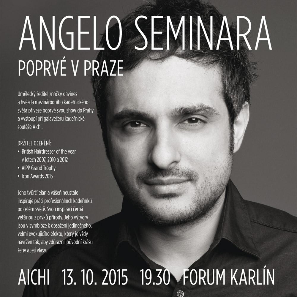 Galavečer AICHI představí 13. října 2015 vítěze posledního ročníku soutěže a také kadeřnickou hvězdu –přijede Angelo Seminara!