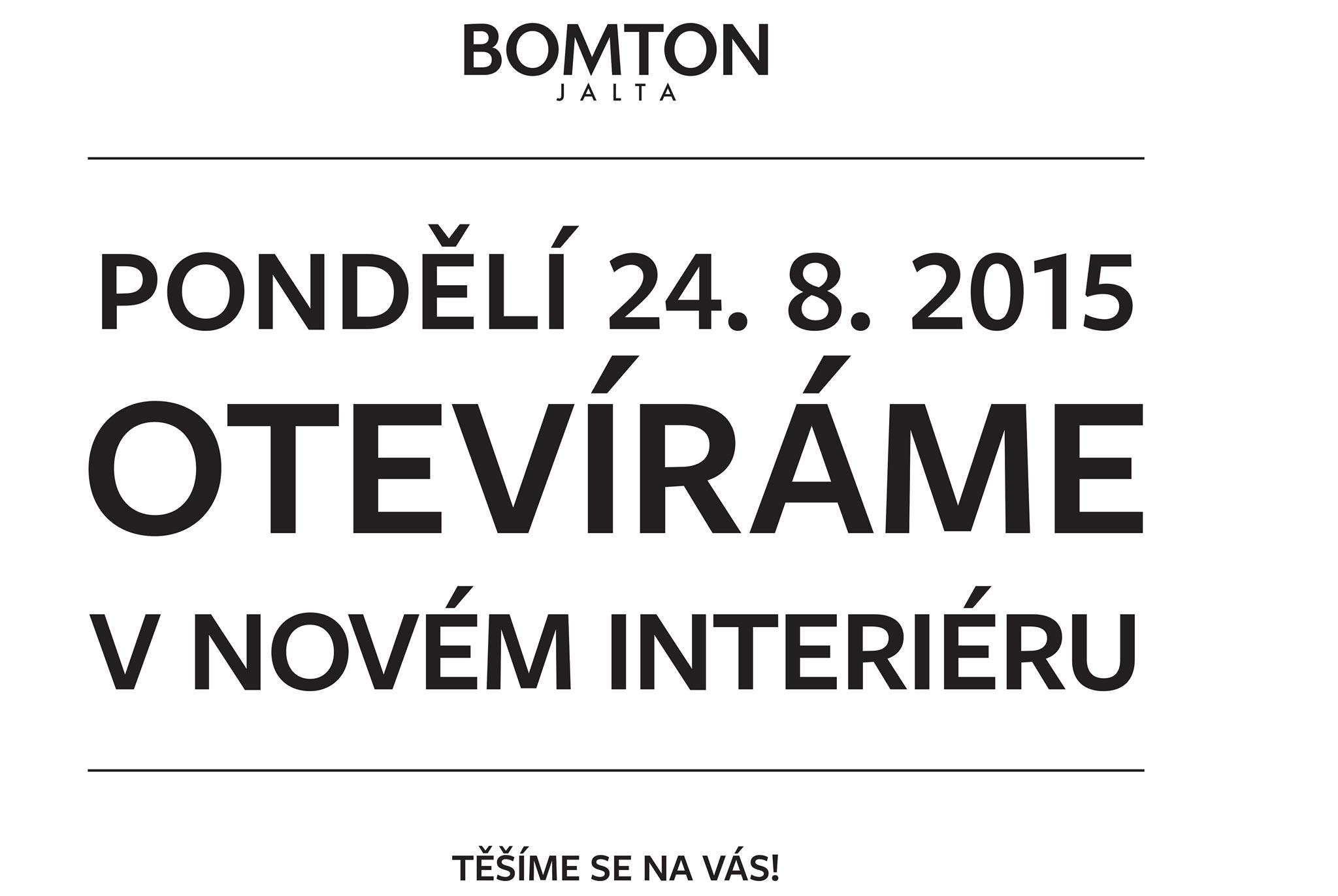 Bomton Jalta otevřel s novým interiérem.