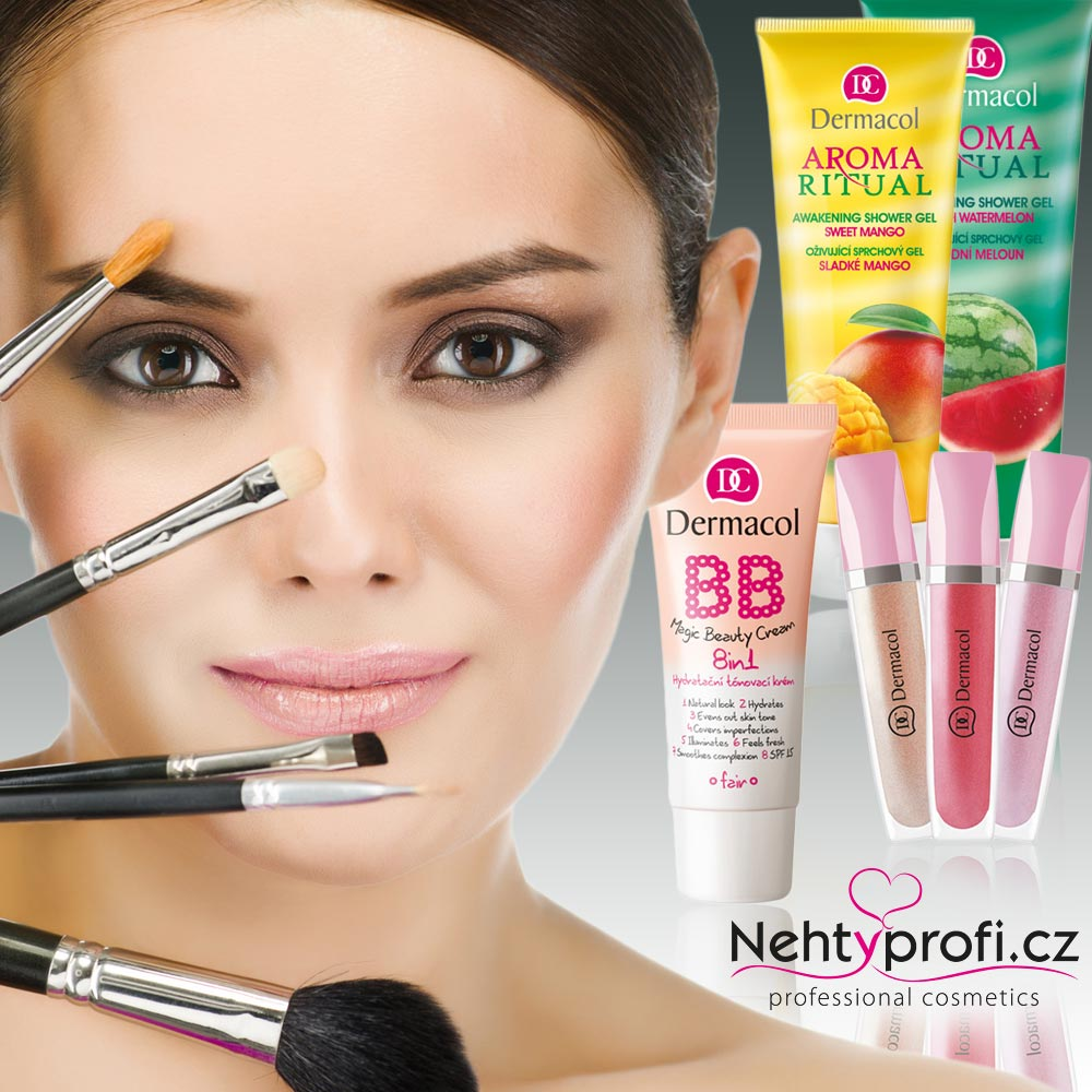 Profesionální e-shop s pomůckami pro modeláž gelových a akrylových nehtů Nehtyprofi.cz nabízí nově kosmetiku Dermacol.