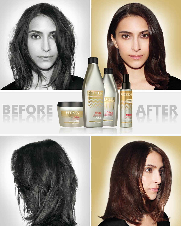 Krepaté vlasy slibuje vyřešit řada vlasové kosmetiky od Redken – Frizz Dismiss.