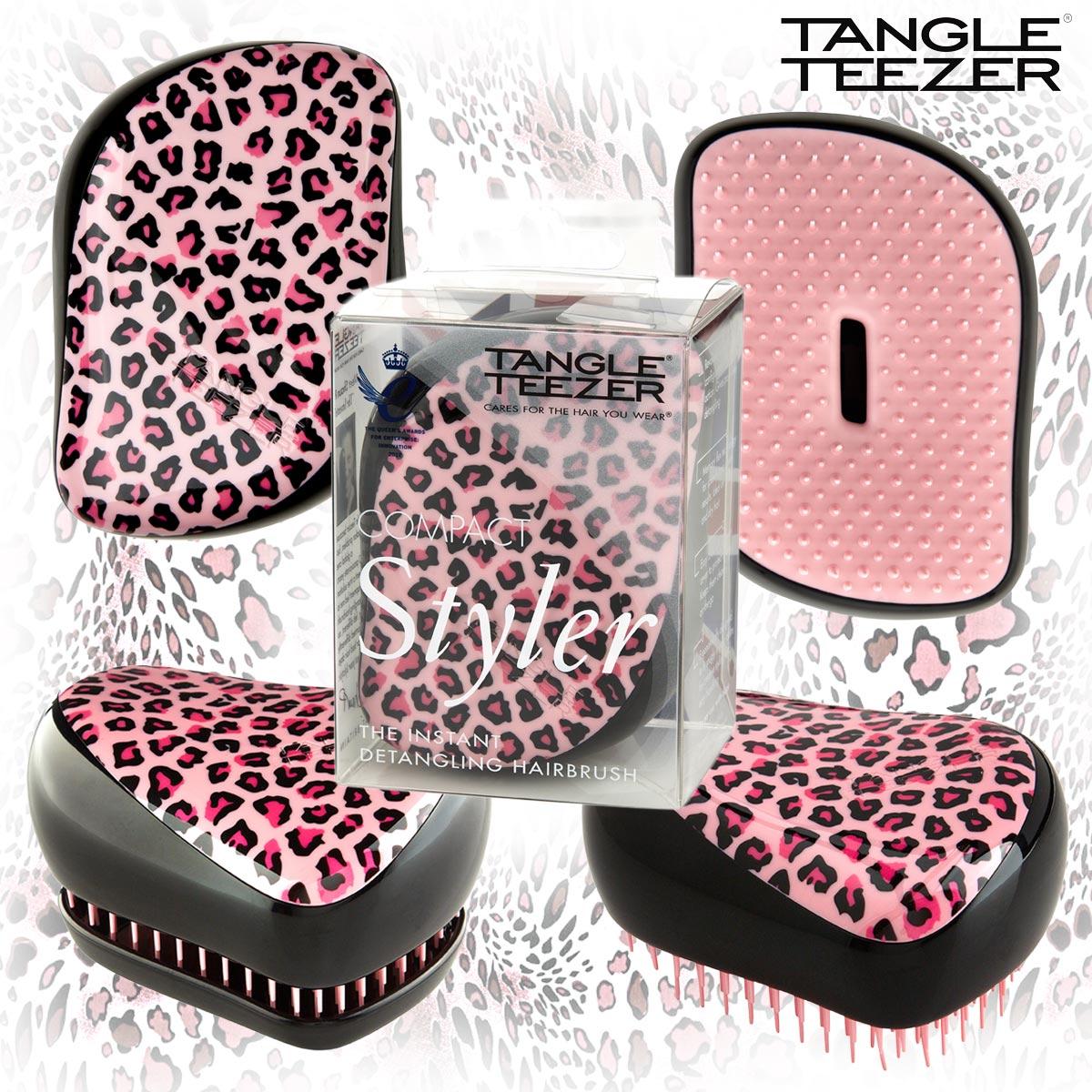 Nový Tangle Teezer Compact Styler Pink Kitty v růžové barvě nahrazuje předchozí vzor Leopard. Se svým vzhledem a designem potěší každou romantičku.