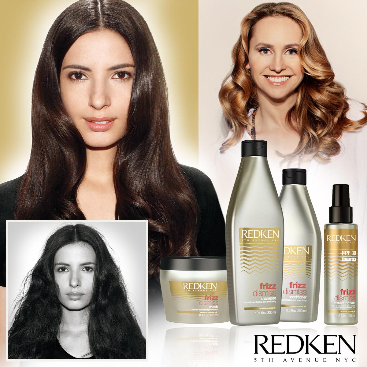 Kadeřnice a Redken Art Designer Jana Burdová radí, jak na krepaté vlasy díky novince od Redken Frizz Dismiss.