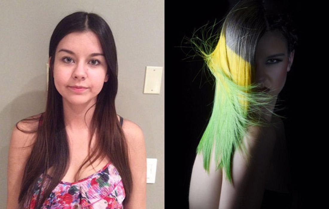 Proměny barvy vlasů podle Marlo Steenman (NAHA 2015 – vítězná kolekce).