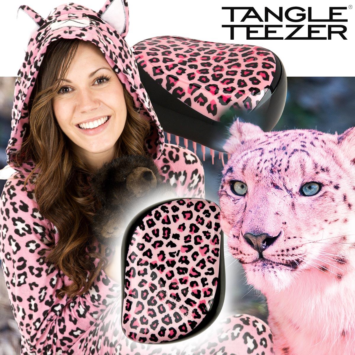 Kartáč na vlasy Tangle Teezer Pink Kitty není hračka pro děti. Je pro ženy romantičky, které si umí hezký a netradiční design kartáče užít.