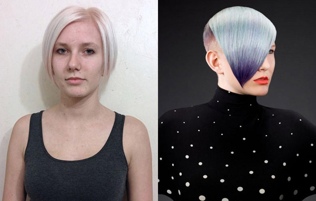 Proměny barvy vlasů podle Greta Coston (NAHA 2015).