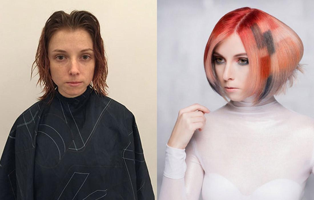 Proměny barvy vlasů podle Dallan Flint (NAHA 2015).