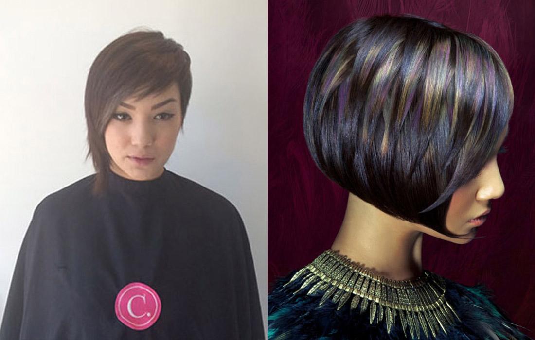 Proměny barvy vlasů podle Erica Reynolds Keelen (NAHA 2015).