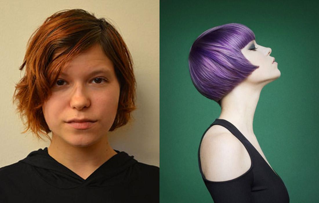 Proměny barvy vlasů podle Jennifer Roskey (NAHA 2015).