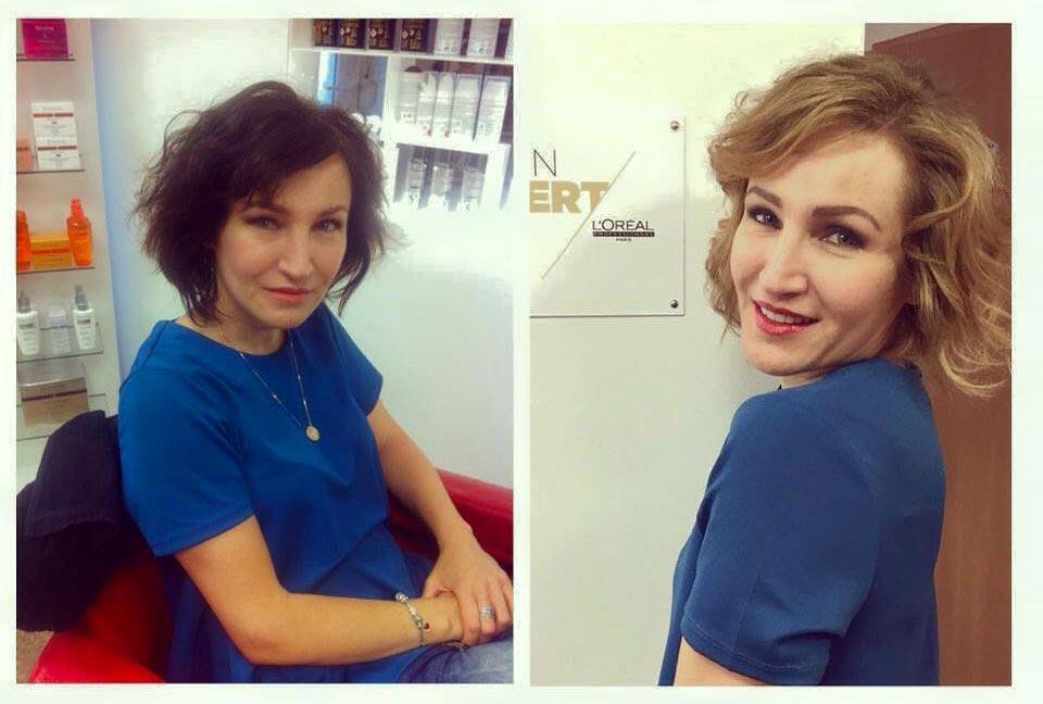 Z tmavé na blond? Jde to pomocí Olaplex. Na obrázku vidíte práci plzeňského Hair Art Design.