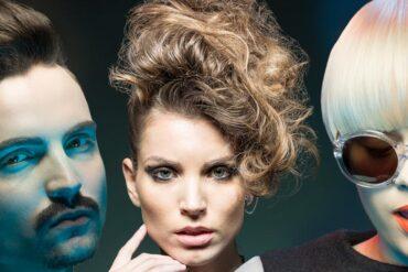 Salon Petra Měchurová SING-SING-SONG je kolekce účesů pro rok 2015, za kterou stojí Ivana Volhejnová, Olesya Movnar a Veronika Coufalová.