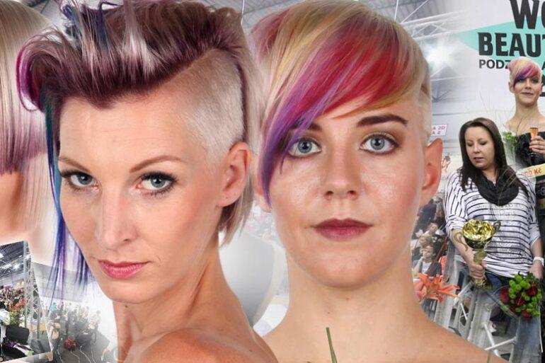 """Tradiční kadeřnická soutěž World of Beauty & Spa –Inspirace 2016 zná své vítěze. Tentokrát jsou účesy krásně barevné – tématem byla """"barva do střihu""""!"""