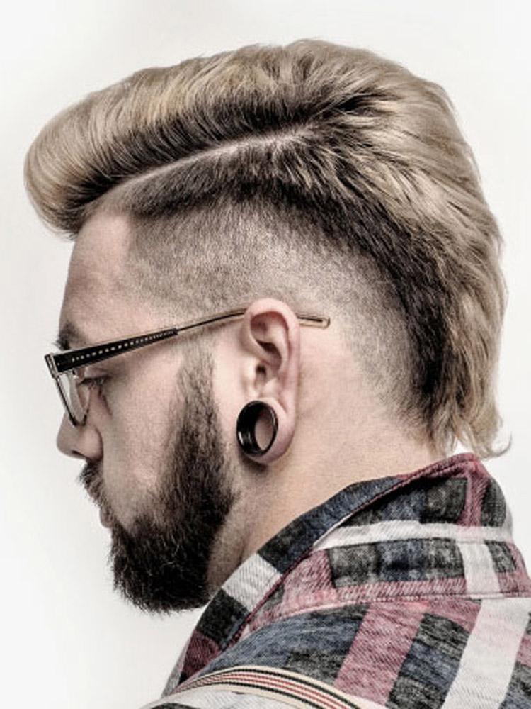 Pánské účesy 2015 Christina Franklin (Eric Fisher Academy v Derby, KS) – nejlepší pánské účesy nominované v soutěži NAHA 2015, v kategorii Men's Hairstylist of the Year.