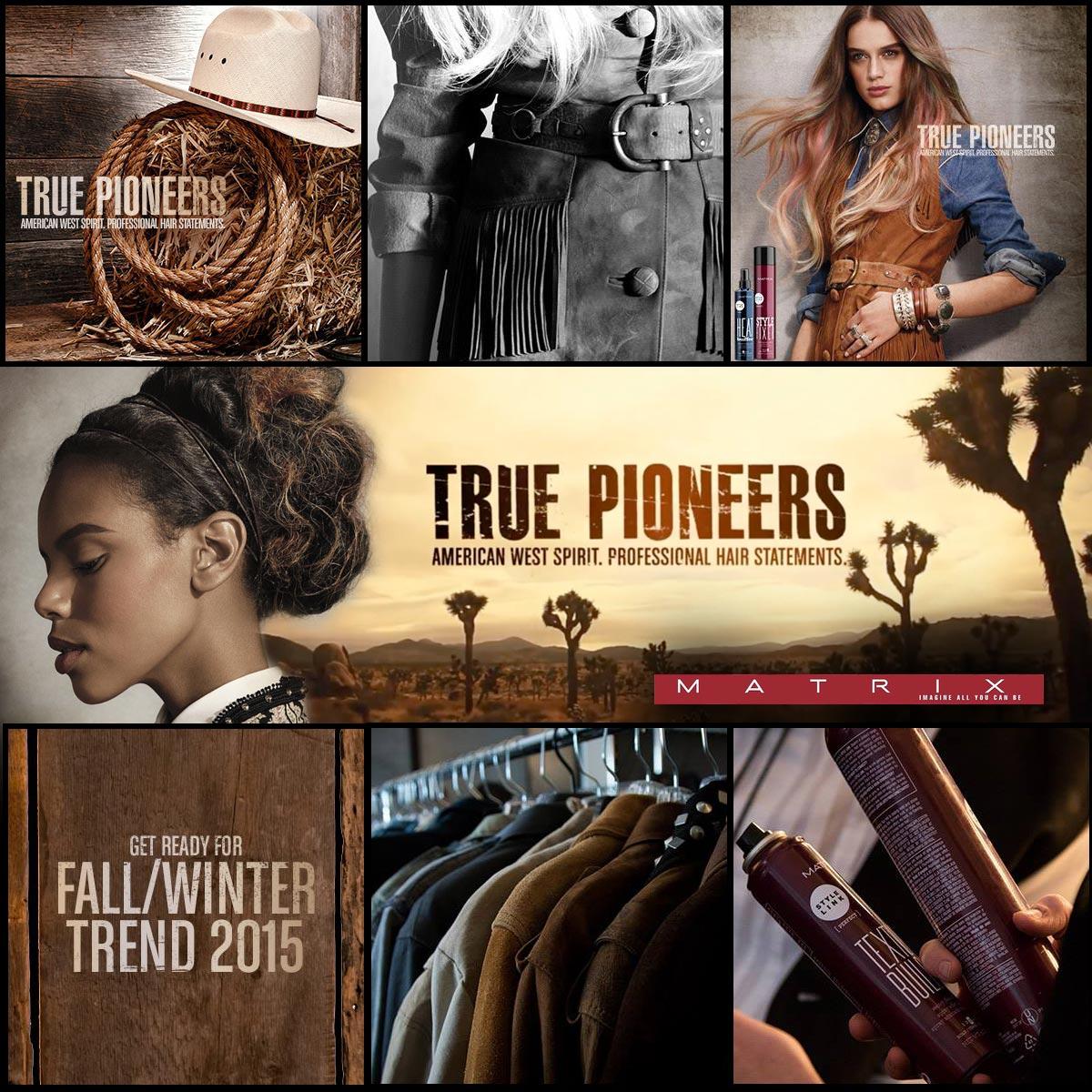 Matrix True Pioneers – podzim/zima 2015: přírodní inspirace, rustikální efekty a detaily zahalené tajemstvím. Pojďte objevit kouzlo nové kolekce účesů Matrix.