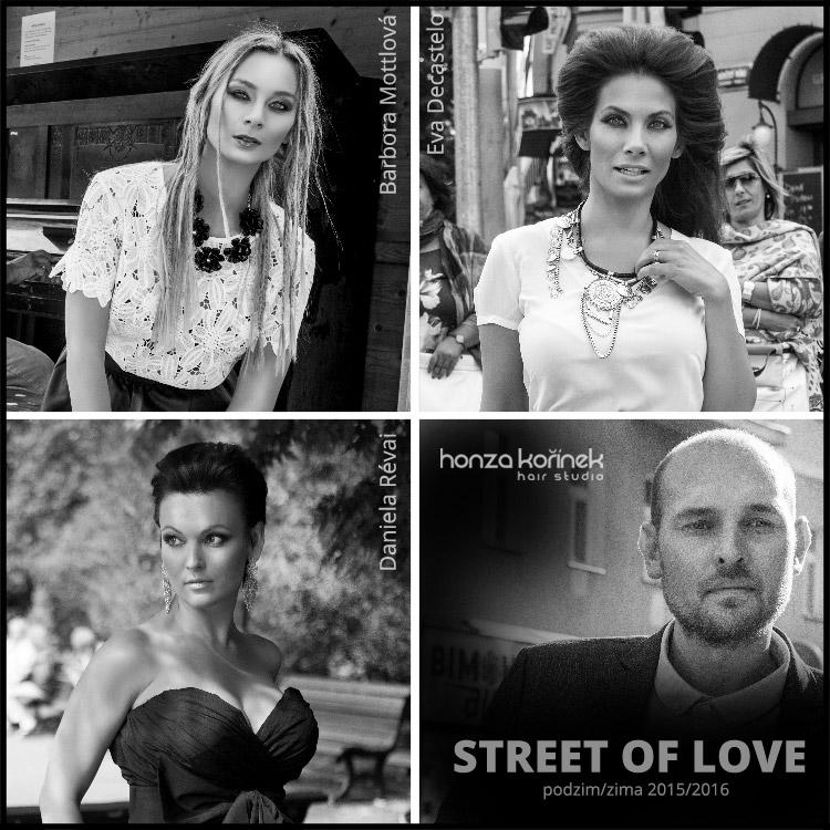 Honza Kořínek – Street of LOVE: podívejte se na nové trendy účesy podzim/zima 2015/2016. Fotografie kolekce jsou současně kampaní obnoveného pořadu New Look, který nově každou sobotu vysílá Prima LOVE.