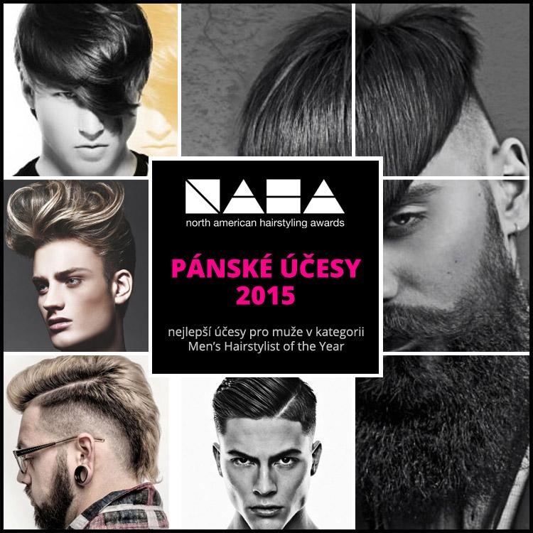Pánské účesy 2015 – nejlepší účesy pro muže oceněné v kategorii Men's Hairstylist of the Year severoamerické kadeřnické soutěže NAHA.