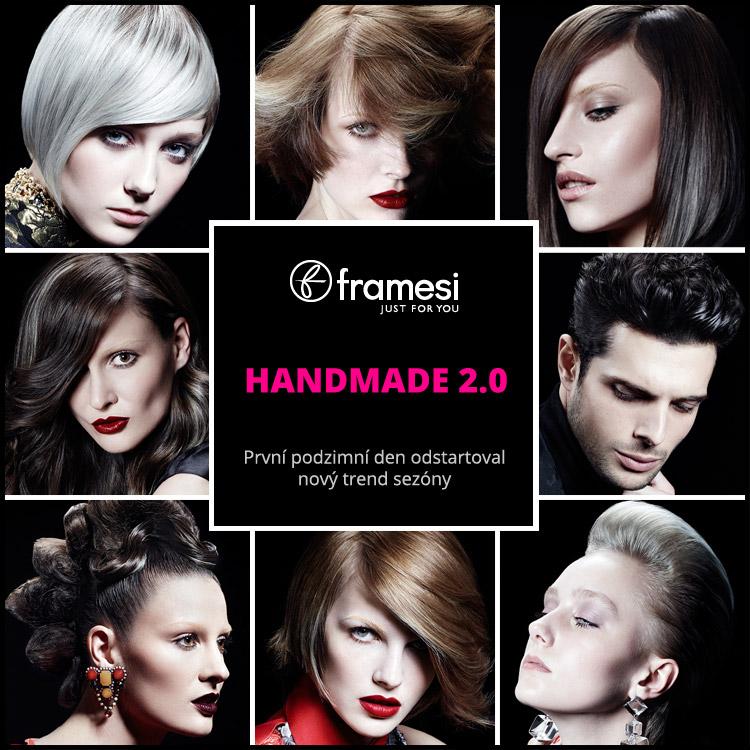 První podzimní den odstartoval nový trend sezóny – stříbrné vlasy. Na šedých akcentech je postavena i účesová kolekce Framesi Handmade 2.0 pro sezónu podzim/zima 2015/2016.