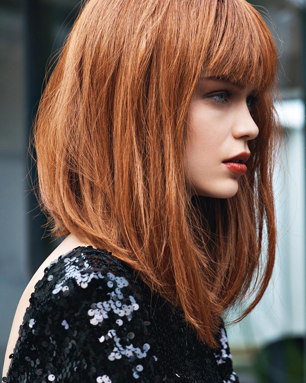 Tipy na účesy pro září 2015 – jahodová blond jako lob. Účes je z kolekce od Jean Claude Aubry – Essential Collection (vlasy: Jean Claude Aubry Community, foto: Laurent Darmon.)