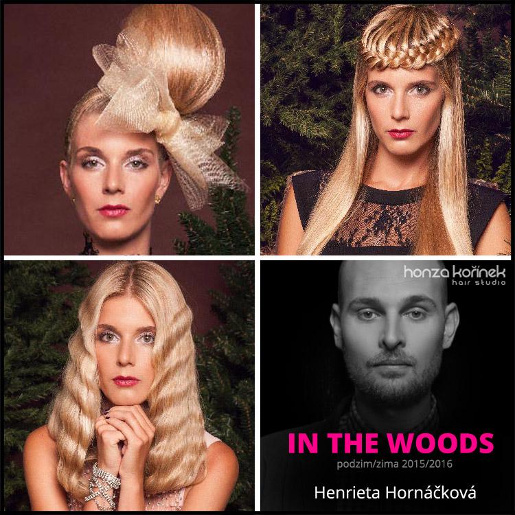 Nové účesy Honza Kořínek podzim/zima 2015/2016 – vlasovou kolekci In THE woods představuje Henrieta Hornáčková