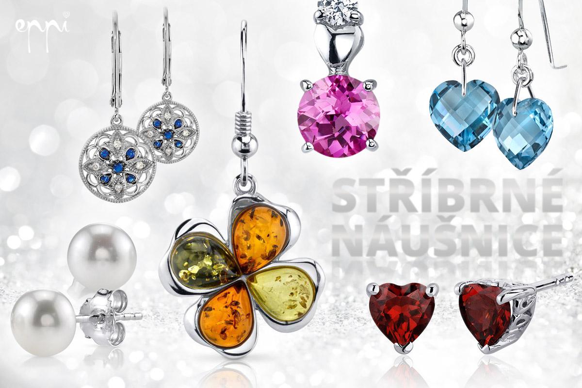 Stříbrné náušnice jsou levnějším šperkem, který si můžete kdykoliv dopřát třeba jako dárek sama sobě. Krásné modely stříbrných náušnic nabízí internetové klenotnictví Eppi.cz,