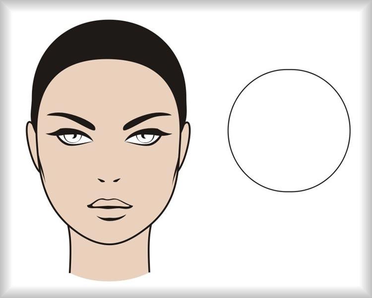 Kulatý obličej: obličej ve tvaru kruhu je symetrický ve všech osách.