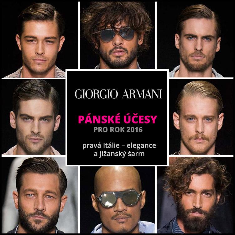 Giorgio Armani: pravá účesová Itálie!