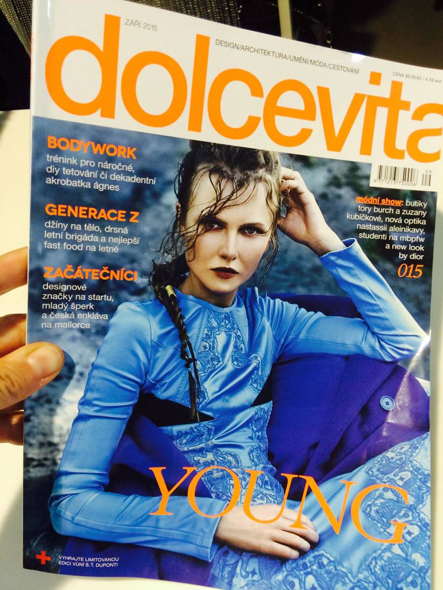 Účes Anny Plačkové pro Dolce Vita 9/2015.