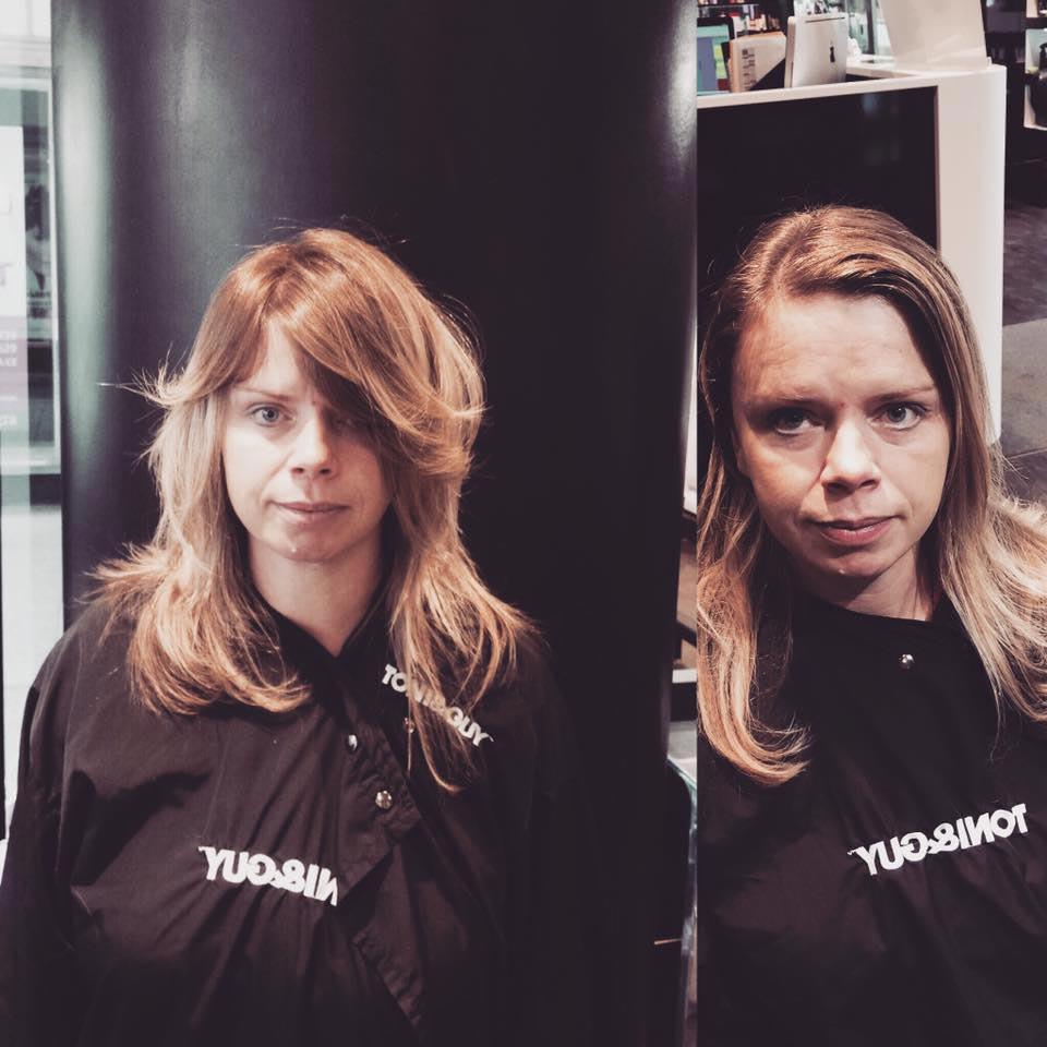 Bára Kolenatá a její kouzlení se s vlasy inspirované kolekcí Toni&Guy Lexicon.
