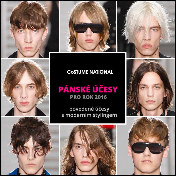 Costume National: účesy pro muže 2016 s moderním stylingem