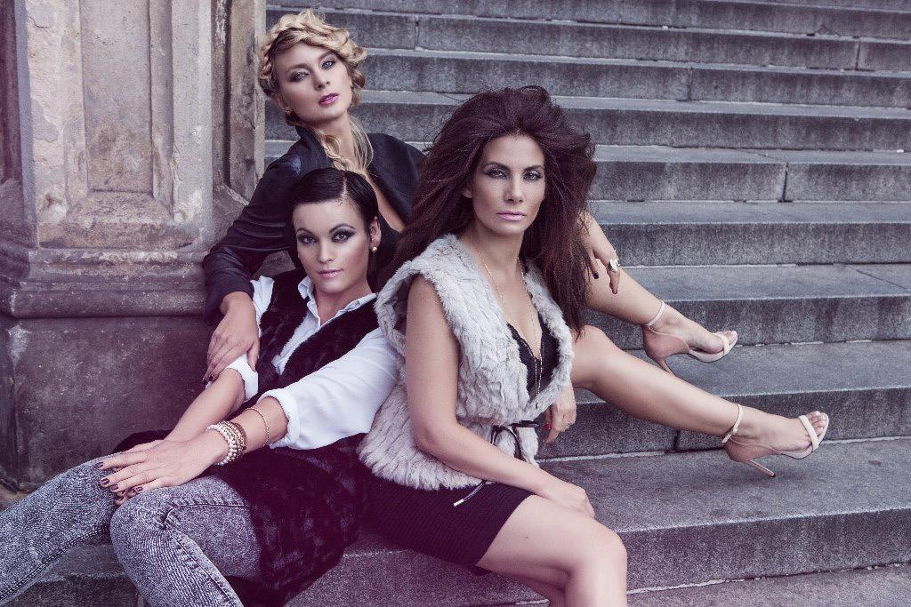 Daniela Révai, Eva Decastelo a Barbora Mottlová v kolekci Honzy Kořínka Street of LOVE pro podzim a zimu 2015/2016.