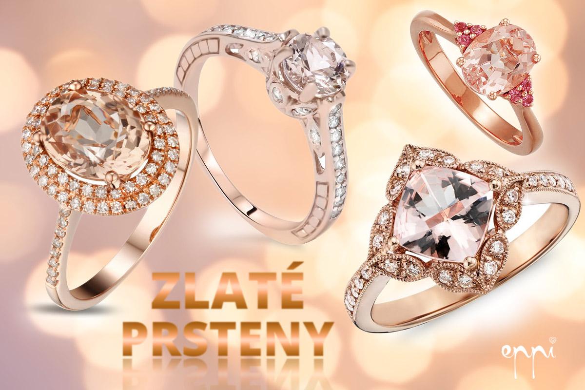 Už máte zlatý prsten z růžového zlata? Je velkým hitem mezi šperky. Všechny prsteny na obrázku koupíte v internetovém klenotnictví Eppi.cz.