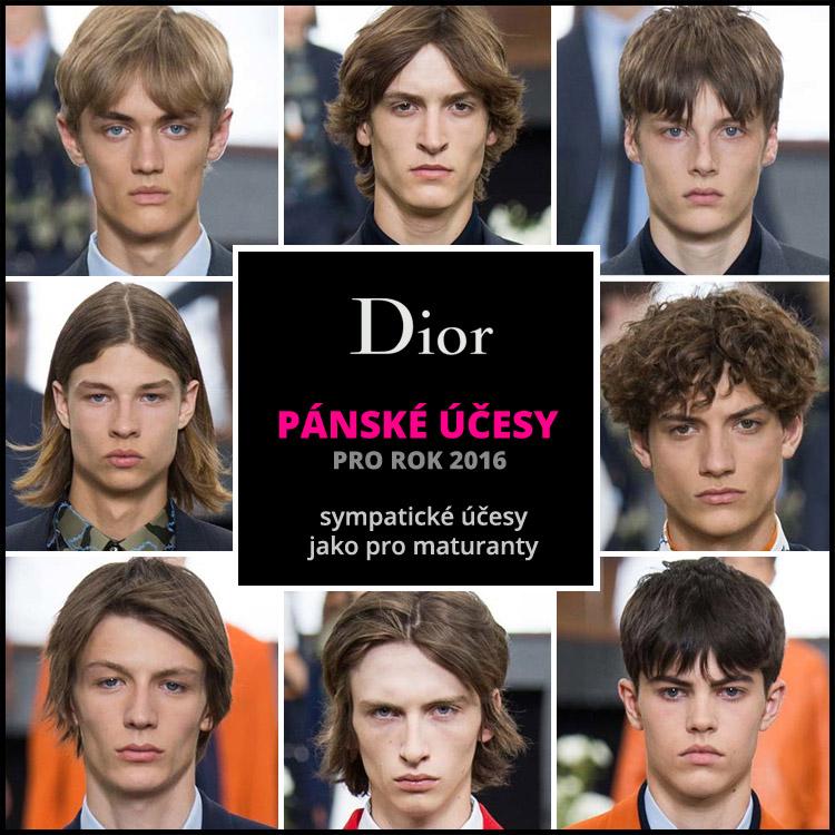 Dior Homme: jako účesy pro maturanty