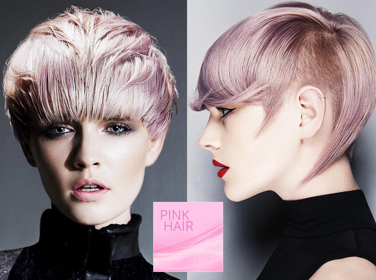 Trendy barvy pro krátké vlasy podzim/zima 2015/2016: růžová barva vlasů je pro krátký střih perfektní!