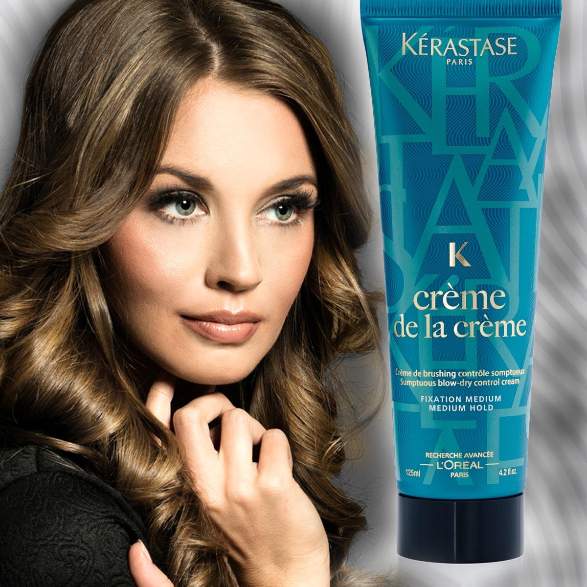 Krepaté vlasy a nejen ty mají nového pomocníka pro uhlazení vlasů, kontrolu objemu, s ochranou proti vlhkosti i s tepelnou ochranou. Je jím krém na vlasy Créme de la Créme z řady Couture Styling od Kérastase.