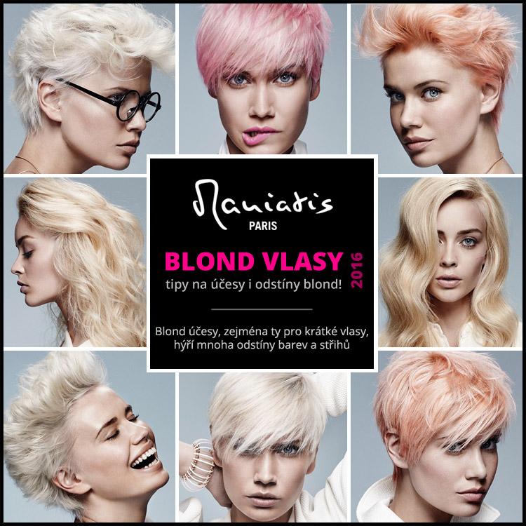 Blond vlasy 2016 – tipy na blond účesy podle Jean Marc Maniatis.