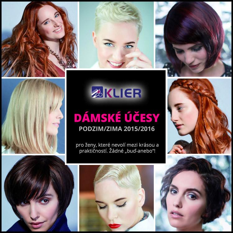 Klier účesy pro sezónu podzim/zima 2015/2016 – kolekce přináší nové dámské i pánské účesy.