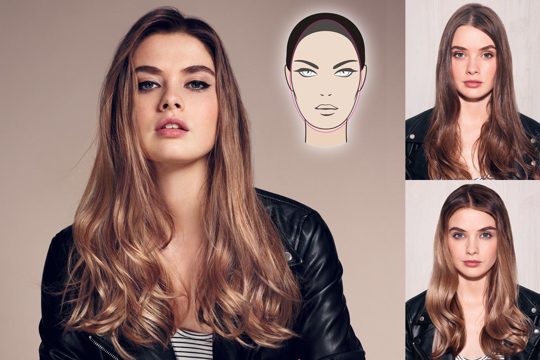 Contouring vlasů pro protáhlý obličej.