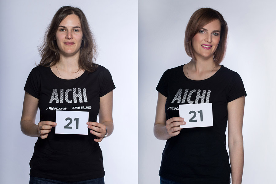 Semifinálová proměna AICHI 2015: Klára Doležalová – Bomton Brumlovka, Praha.