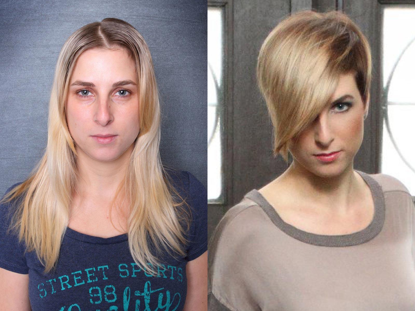 Proměna - základní kolo AICHI 2015: Jitka Kočová – Hair Design Unique, Plzeň.