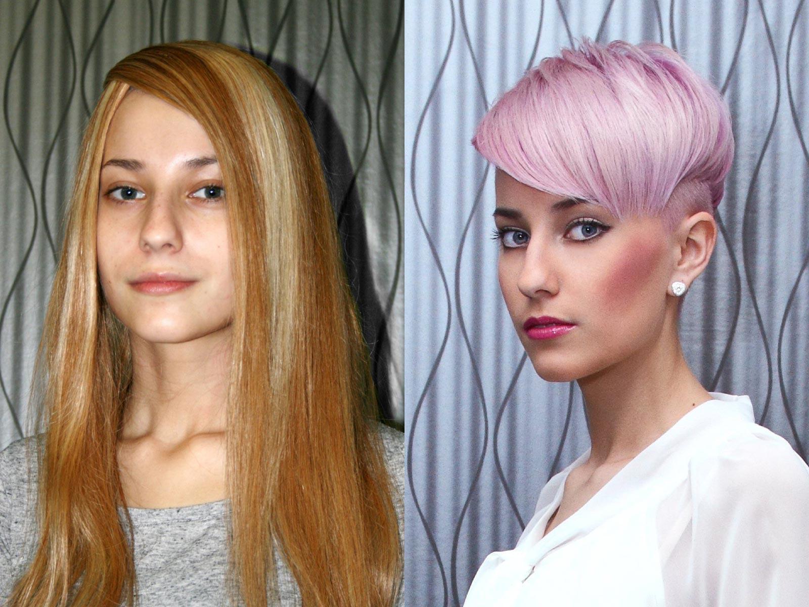 Proměna - základní kolo AICHI 2015: Michaela Borovičková – Hair Design Unique, Plzeň.