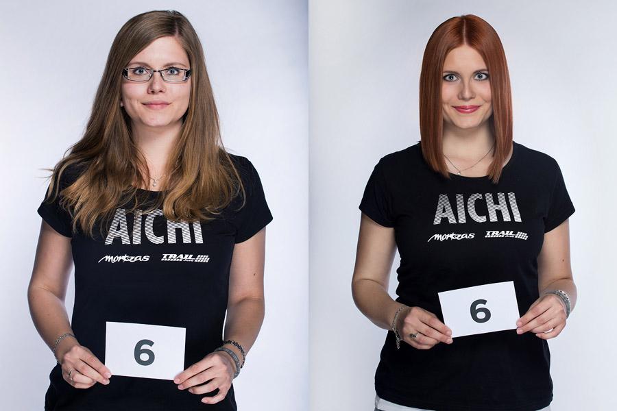 Semifinálová proměna AICHI 2015: Michaela Borovičková – Hair Design Unique, Plzeň.