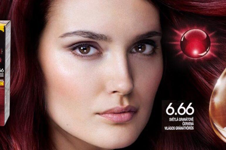 Barvy Olia Garnier mají nový odstín pro červené vlasy. Tentokrát nás dostane nádherná karmínová barva vlasů.
