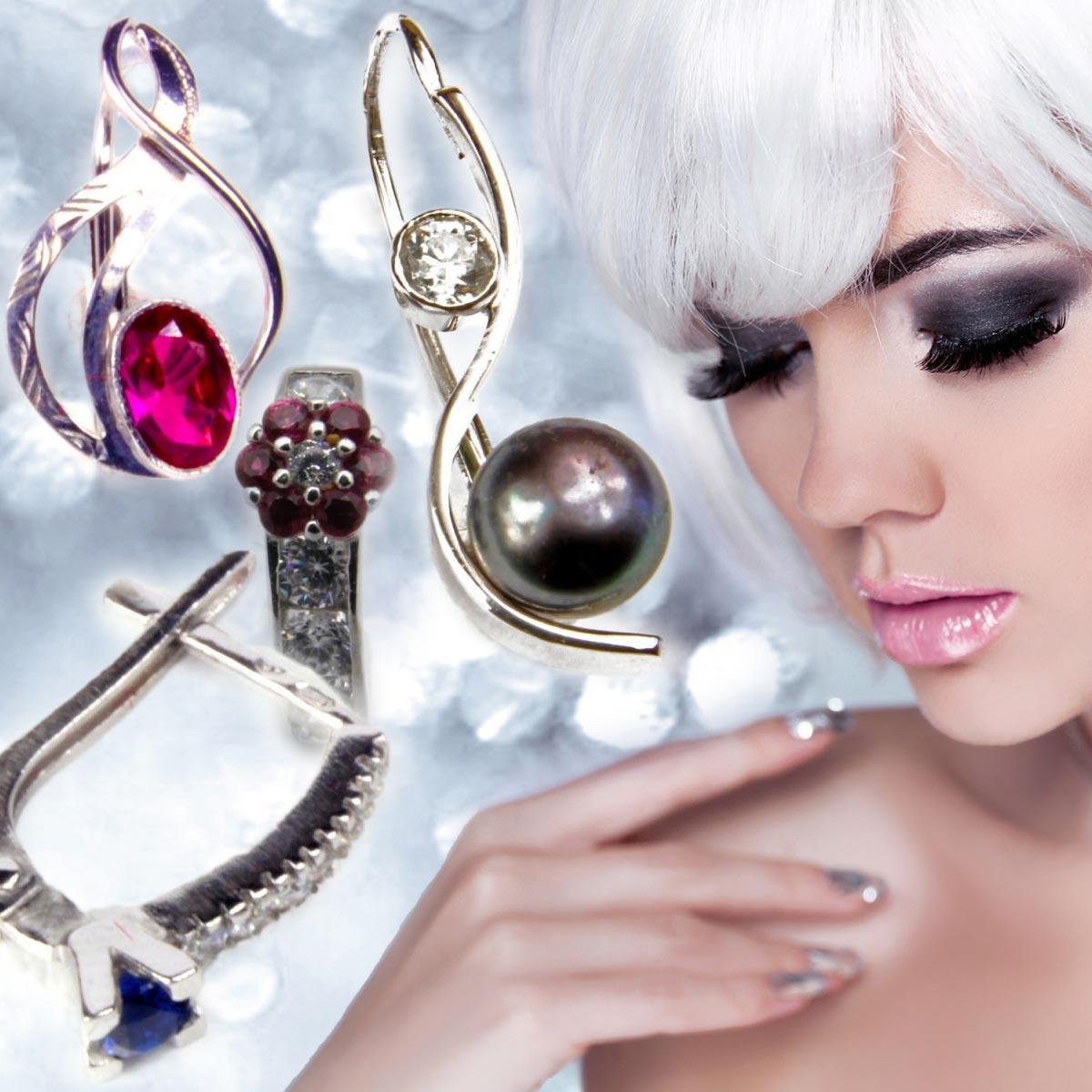 Šperky a vlasy musí ladit – k aktuálnímu módnímu trendu stříbrných a platina blond vlasů si vyberte náušnice z bílého zlata.